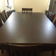 Dining Game Table Set with 6 chairs in Sagamore Hill. Photo by Sean.