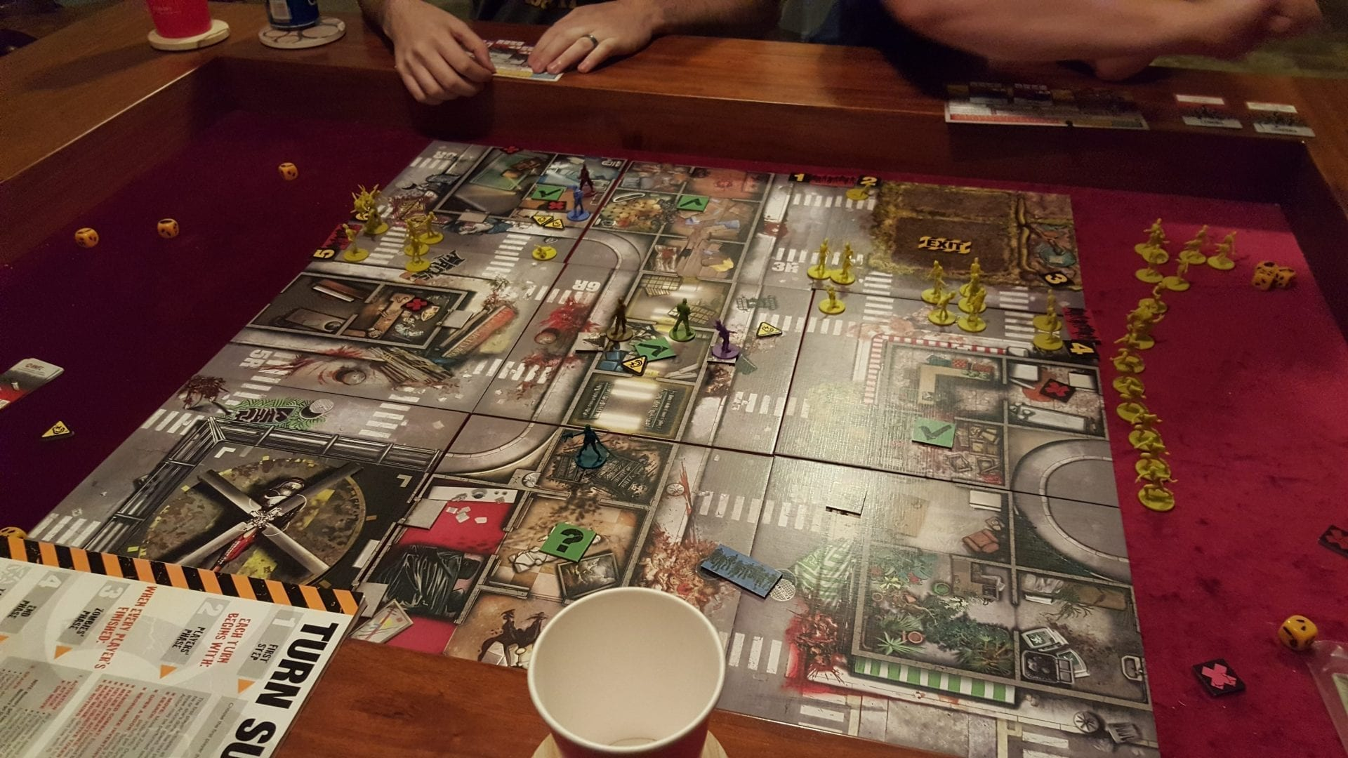 Zombicide In The Dining Room Game Table