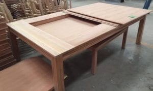 Unfinished Tablezilla, showing how the top fits together securely.