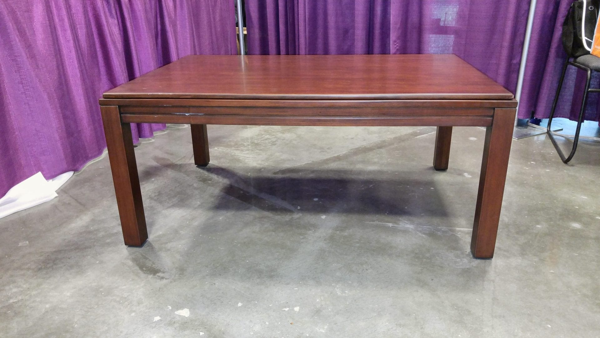 Coffee Game Table In Cherry With Top On. Yes, Price Includes Table Top!