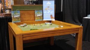 $1199 Kitchen Game Table in Elm and Forest Green Fabric.