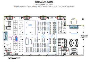 DragonCon 2016 booth location