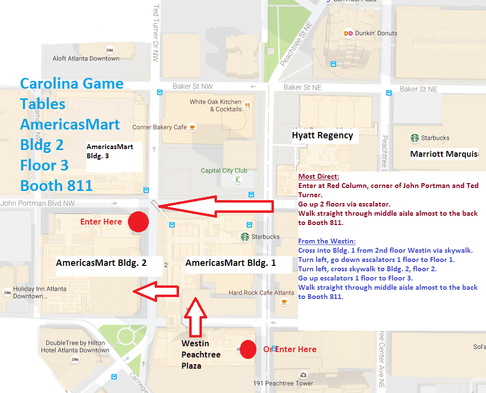 Americasmart Atlanta Map.Navigating Dragoncon To Find Us In The Exhibit Hall Carolina Game
