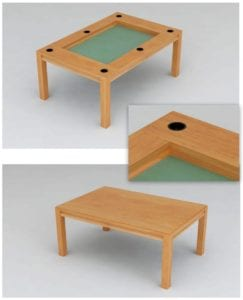 Dining Table With Cup Holders