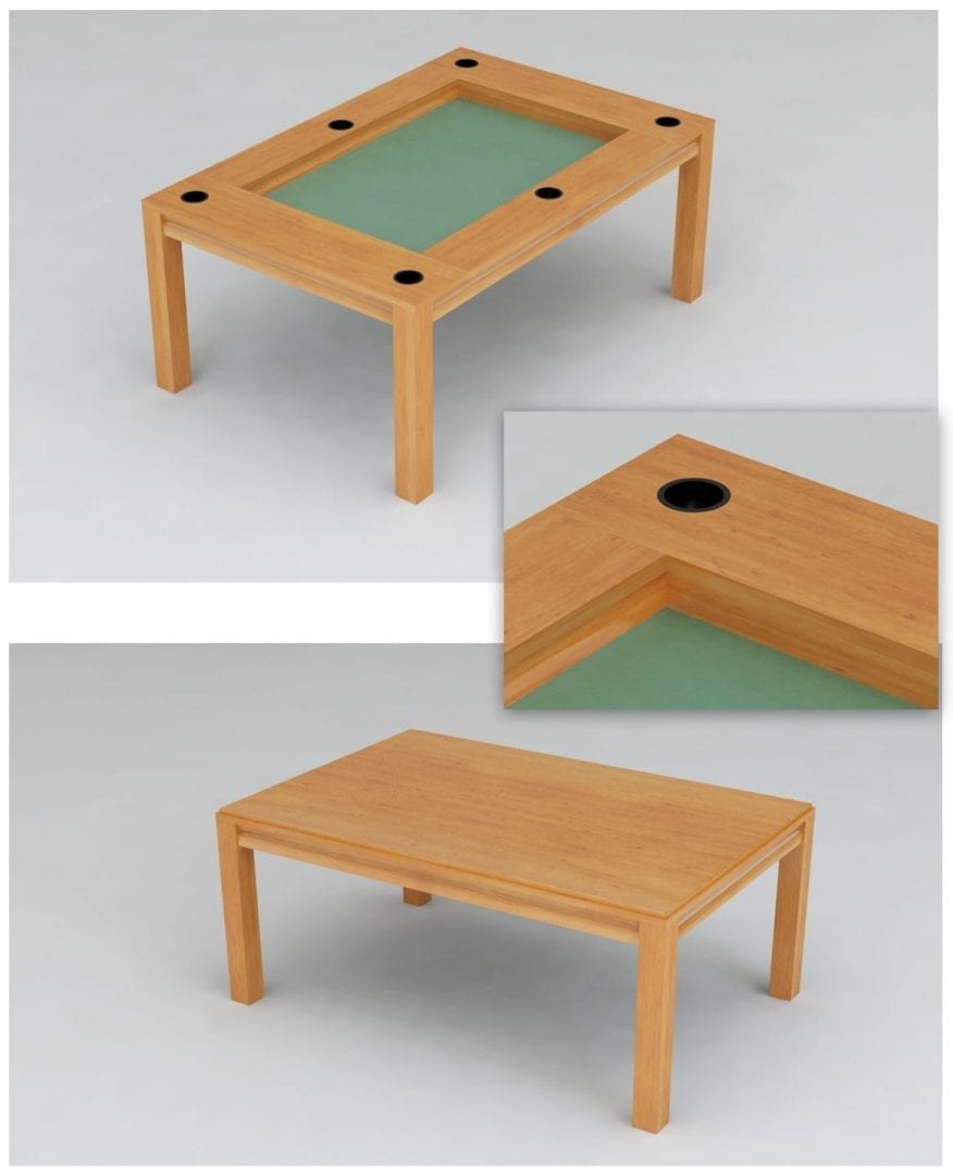 Beautiful Dining Game Table With Cup Holders!