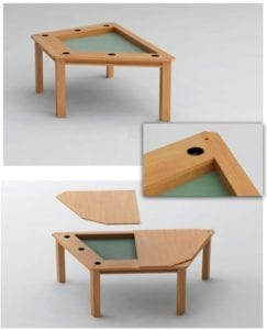 Streamer Game Table: Add Six Cup Holders for $150!