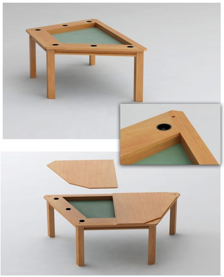 100 Coffee Table With Cup Holders Collin Silt Lay  : Streamer Game Table with cup holders from 45.32.79.15 size 1161 x 1435 jpeg 216kB