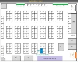 Find Carolina Game Tables at Con Nooga 2017! Booth J12 & J13, close to concessions and gaming!