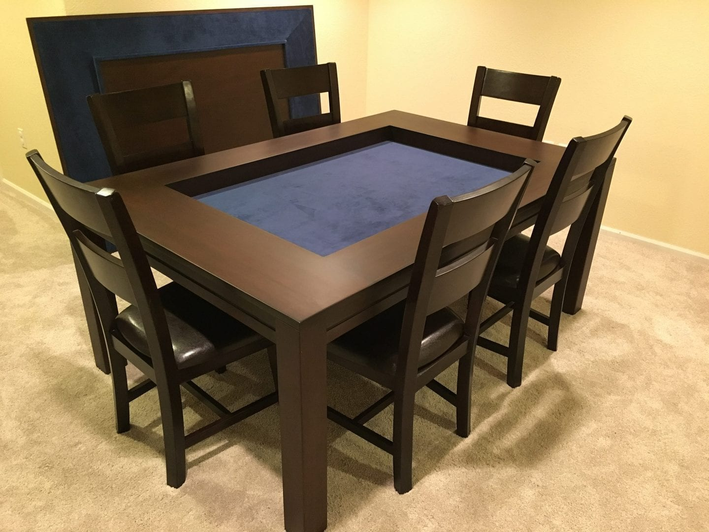 Shown In Sagamore Hill Finish And Dark Blue Fabric Thanks Ben