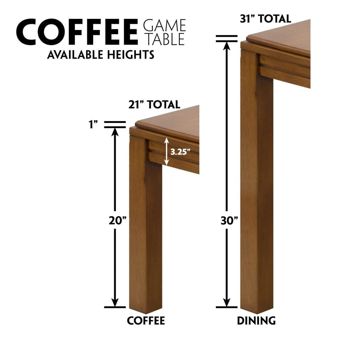 Table Heights Graphic Coffee