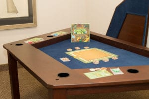 Streamer Game Table with Cup Holders at the Carolina Game Tables showroom in Hickory, NC.