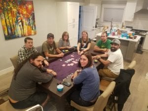 Poker Night on Janice's Banquet Game Table!