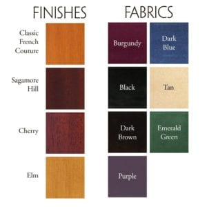 Finishes and Fabrics Large