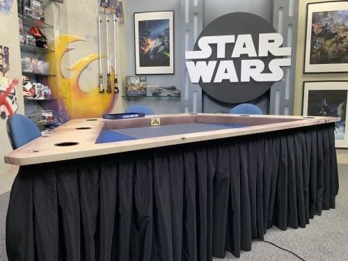 Fantasy Flight Game's Streamer Table Setup for Star Wars Legion