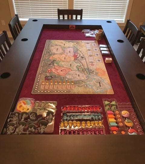 Tablezilla set up for Rising Sun and all its minis